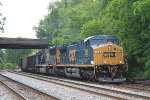 U883-24 with freshly painted CSXT 445 leading