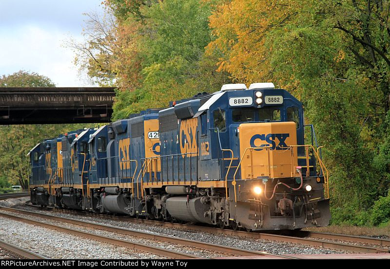 X786-18 EB on the Old Main Line