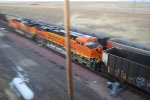BNSF 6319 heads south out of Bill as a rear DPU