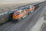 BNSF 6168 heads south to douglas as a rear DPU