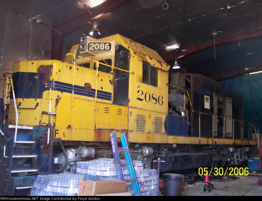 ex ATSF 2086 INPR Shop