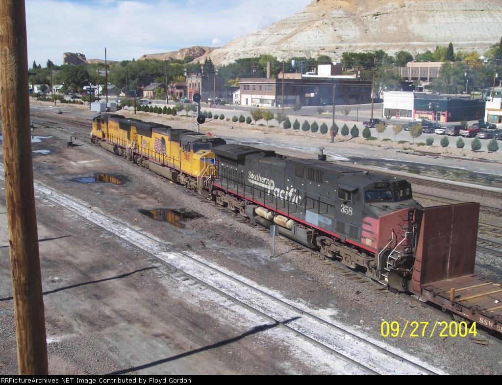 SP 358, UP 5011, UP 4571
