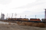 CEFX 7106, UP 4741 and two unidentified GE locomotives on front of east bound freight with two GE helpers