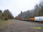 BNSF 6859, 6711, 6843, 7300 (SD40-2s) northbound