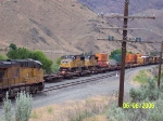 UP 4435 Leads Eastbound Stack Train