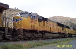 UP 4853 is the 2nd unit of a five unit UP stacktrain