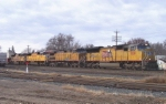 UP 5130 leads four unit double stack train