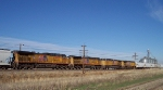 UP 5604 is one of four units cut into grain train.