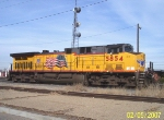 UP 5854 used as heavy yard switcher