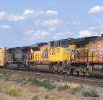 UP 8565 sandwiched between two GE's