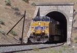 UP 5512 exits tunnel eastbound