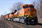 BNSF engines ready for interchange to CSX from GE