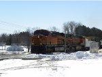 BNSF 7413 North rolls through Hinckley
