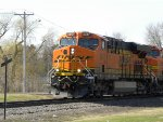BNSF 6317 North with familiar consist