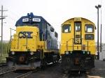 CSX 1127 and CSX 2798 GP38-2