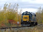 "CSX 2558 ""Light Engine"" at Valleyfield"