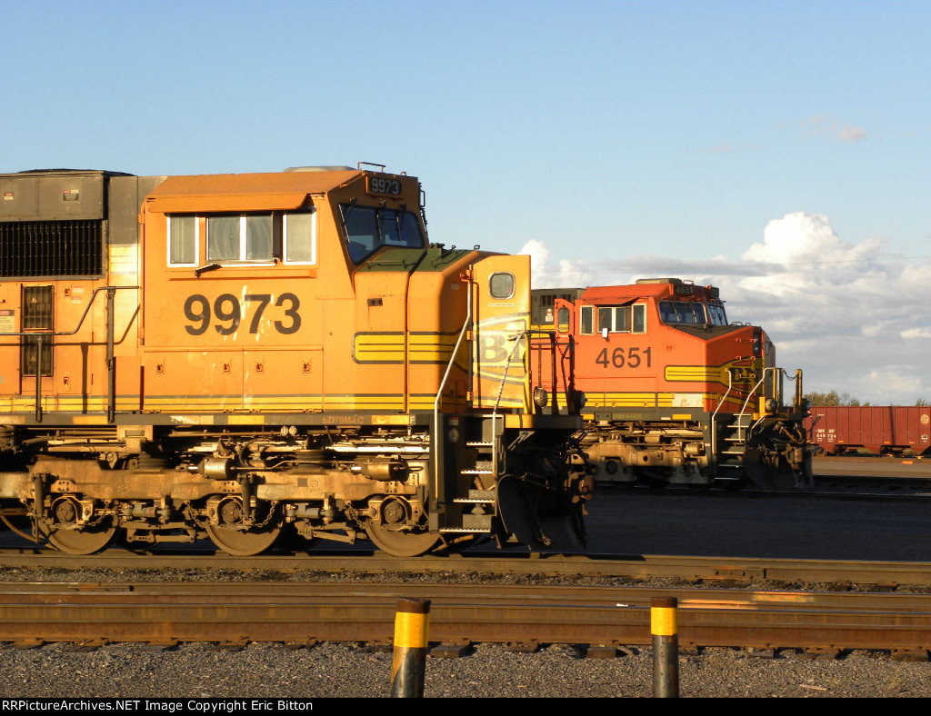 BNSF 4651 and 9973