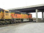 BNSF 9993 and 9973 backing up