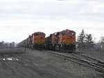 BNSF Coal Trains in Lake Effect Snow