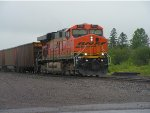 BNSF 6183 South on the Coal Runner in the rain