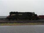 IC SD40 - 2 #6050 at CN's Pokey Yard in the rain
