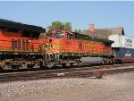 BNSF 7584 East at the Little Falls Depot