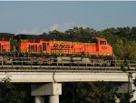 BNSF 5991 East over the Mississippi