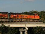 BNSF 7794 East over the Mississippi