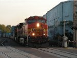 BNSF 4639 West in the evening