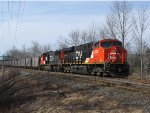 CN 511 Moving Up In The Siding