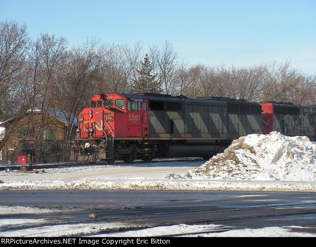 CN SD60F #5561 and CN GP40 - 2W #9530