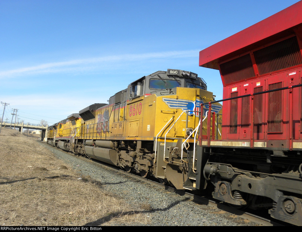 UP SD70ACe #8610 on UP 8650 West