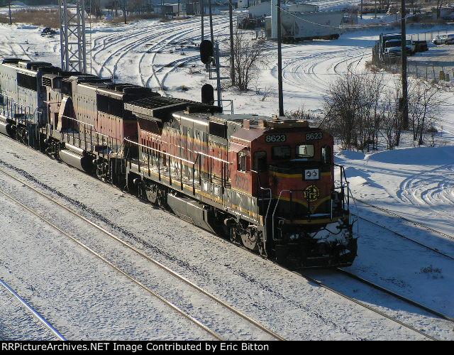 BNSF 8623 North at Northtown