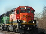 BNSF 7888 East with 3 EMD vets