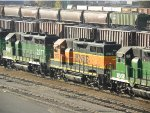 BNSF GP39Es, Ms, and Vs in storage