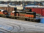 BNSF 6756 and 8018
