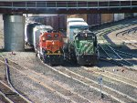 BNSF SD40 - 2 #1850 and BNSF SD40 - 2 #1594 (My favorite SD40 - 2 in MN)