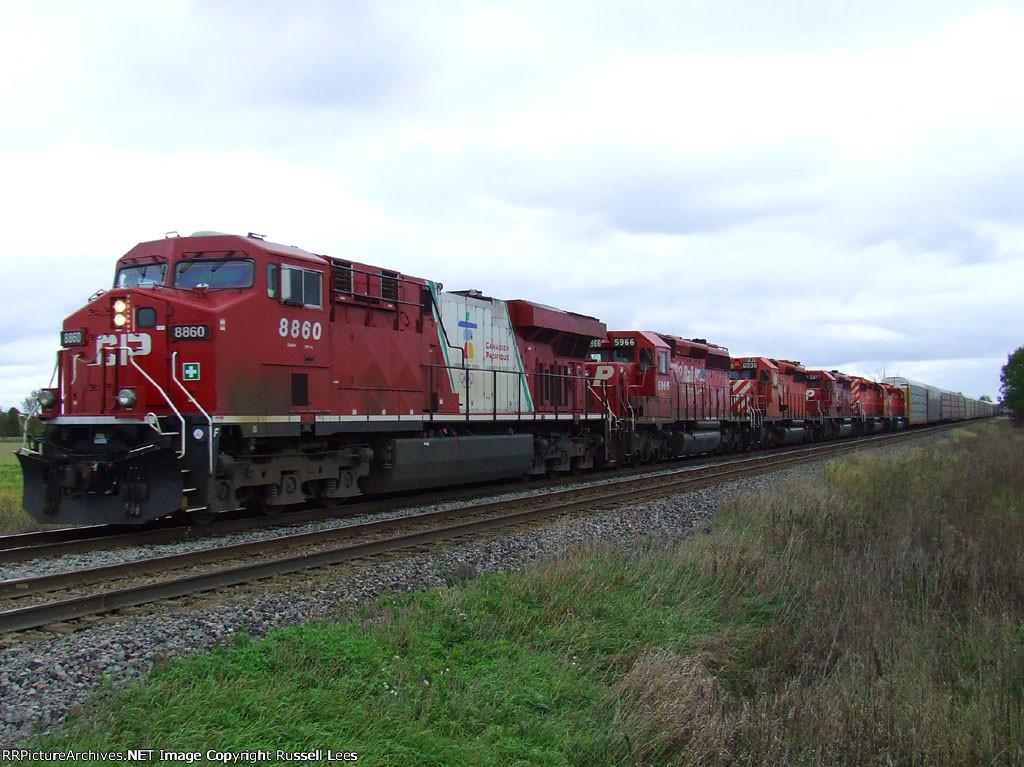 CP 8860/5966/6036/5877/5929/6027 on train 235