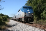 Now on time, Train 20 led by Amtrak 163 heads up and out
