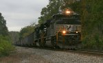 NS empty coal train heading to the Poca for a refill