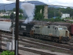 ALCO-like smoke from an SD60 tired of pulling heavy coal trains