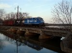 Conrail NS 5277 rolls over the South River Bridge