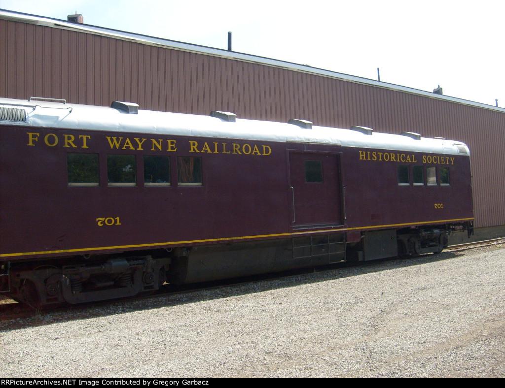 FT WANYE RAILROAD HISTORICAL SOCIETY CREW CAR 701
