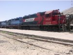 Trio locomotives in yard Torreon, Coah.