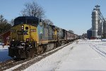 CSX 12 Races Through Steward,IL On a A Bright Sunny Day