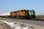 BNSF 4751 Passes A Trio Of SD60'Ms