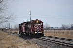 NCRC 4201 (GP40), 4203 (GP40), 4606 (GP9R) &  5332 (SD45) heading out of Columbus towards Oconee