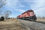NCRC 5332 (SD45), 4606 (GP9R), 4203 (GP40, & 4201 (GP40) on its way to Oconee