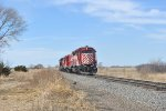 NCRC 5332 (SD45), 4606 (GP9R), 4203 (GP40, & 4201 (GP40) moving slowly towards Oconee
