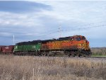 BNSF Work Train on the cuba sub w/ BNSF/BN #8134